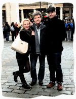 With Brendan Coyle and Joy Harrison in Covent Garden
